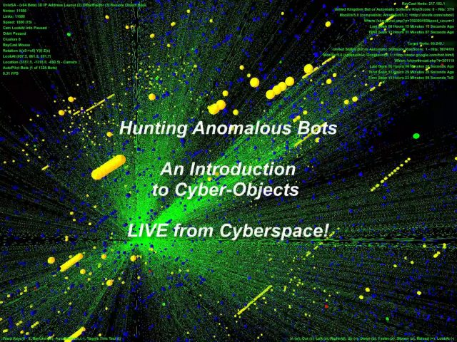 Hunting Anomalous Bots and An Introduction to Cyber-Objects - LIVE from Cyberspace !
